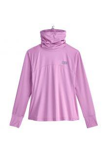 Coolibar---UV-Swim-Shirt-with-neck-gaitor-for-women---Paros---Lavender