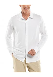 Coolibar---UV-Shirt-for-men---Vita-Button-Down---White