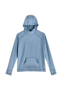 Coolibar---UV-Hooded-Pullover-for-kids---LumaLeo---Light-Blue
