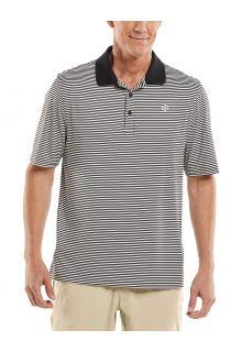 Coolibar---UV-Sport-Polo-for-men---Erodym-Golf---Black/White
