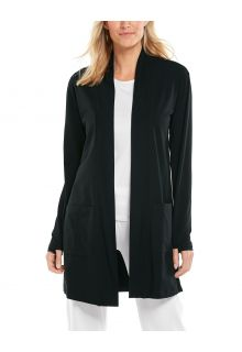 Coolibar---UV-Cardigan-for-women---Corbella---Black