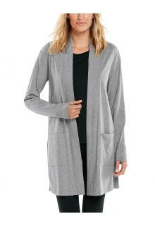 Coolibar---UV-Cardigan-for-women---Corbella---Grey