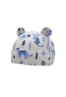 Coolibar---UV-resistant-babyhat---Critter-Fauna---Grey/Leopard