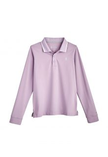 Coolibar---UV-Sport-Polo-for-kids---Longsleeve---Erodym-Golf---Lavender