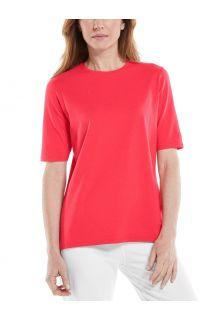 Coolibar---UV-Shirt-for-women---Morada-Everyday---Poppy-Red