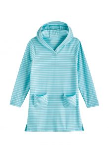 Coolibar---UV-Beach-cover-up-for-girls---Catalina---Ice-Blue/White