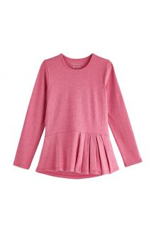 Coolibar---UV-Shirt-for-girls---Longsleeve---Aphelion-Tee---Dahlia-Pink