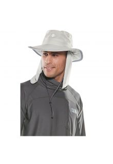 Coolibar---UV-hat-with-concealable-neck-flap-for-men-and-women---light-grey