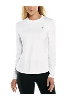 Coolibar---UV-Sports-Shirt-for-women---Longsleeve---Match-Point---White