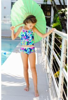 Snapper Rock - Tropical Neon Tankini - 0