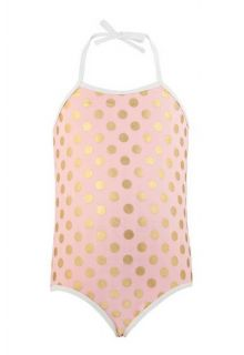 Snapper Rock - Ballet Dots Halter Swimsuit - Front