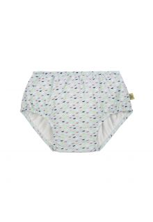 Lässig - Girl's swim diaper - Fish Scales - light blue - Front
