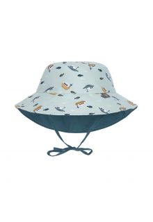 Lässig---Reversible-UV-Bucket-hat-for-babies---Boat---Mint