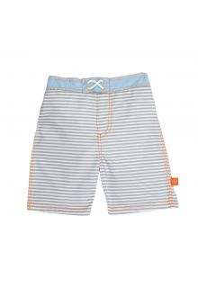Lässig - Swim shorts for boys - Small Stripes - Striped - Front