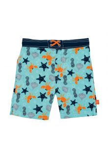 Lässig - Swim shorts for boys - Star Fish - Light blue - Front