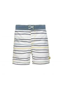 Lässig - Boys' UV swim shorts with nappy - Stripes - multicolour - Front