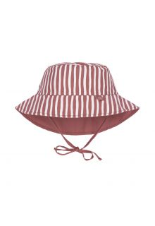 Lässig---Reversible-UV-Bucket-hat-for-babies---Stripes---Red