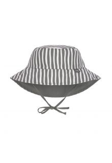 Lässig---Reversible-UV-Bucket-hat-for-babies---Stripes---Olive