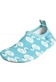 Playshoes - UV water shoes for girls - swans - light blue - Front