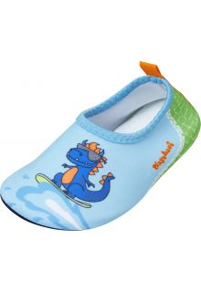 Playshoes---Uv-water-shoes-for-boys---Dino---Lightblue/Green