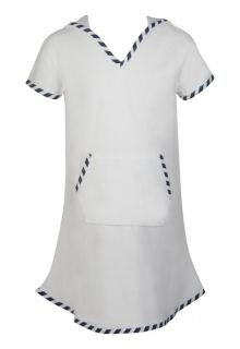 Snapper Rock - Hooded Toweling Dress - White - 0