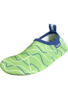 Playshoes - UV barefoot shoes boys and girls - seal - blue/green - Front