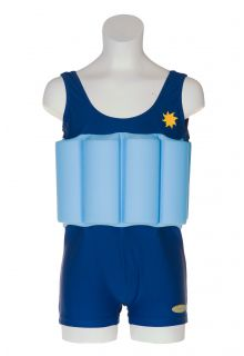 Beverly Kids - UV Floating Swimsuit Kids- Blue Boy - 0