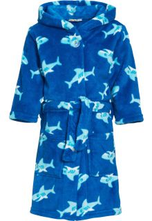 Playshoes - Fleece Bathrobe with hoodie - Shark - Front