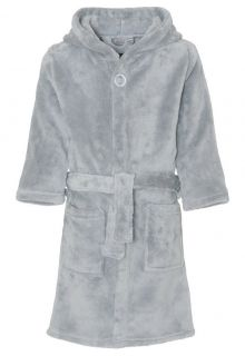 Playshoes - Fleece Bathrobe with hoodie - Grey - Front