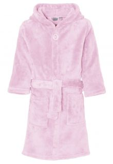 Playshoes - Fleece Bathrobe with hoodie - Light Pink - Front