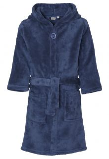 Playshoes - Fleece Bathrobe with hoodie - Navy - Front