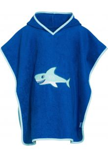Playshoes - Baby towel with hoodie - Shark - Front