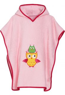 Playshoes - Baby towel with hoodie - Owl - Front