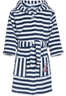 Playshoes - Fleece dressing gown for children - Maritime - Navy/white - Front