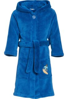 Playshoes - Fleece Bathrobe with hoodie - Surf Blue - Front