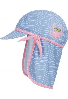 Playshoes---UV-Sun-cap-for-girls---Crab---Lightblue/Pink