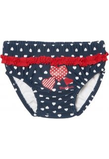 Playshoes - reusable swim diaper for girls - hearts - blue - Front