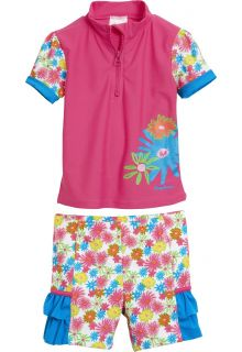 Playshoes - UV swim set - pink flowers - 0