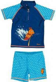 Playshoes - UV Swim Set Kids- Blue mouse - 900