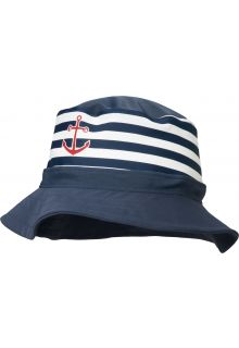 Playshoes - UV hat for boys and girls - maritime - blue / white - Front