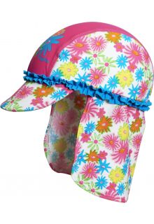 Playshoes - UV Sun cap children - pink flowers - 18