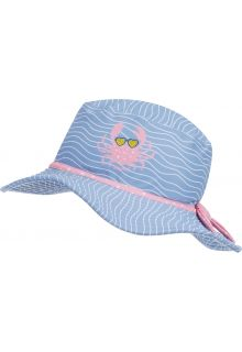 Playshoes---UV-Sun-hat-for-girls---Crab---Lightblue/Pink