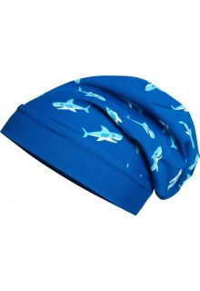 Playshoes - UV beanie for boys - Shark - Blue - Front