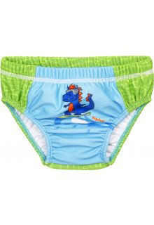 Playshoes---UV-swim-diaper-for-babies---Washable---Dino---Green/Lightblue