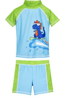 Playshoes---UV-swim-set-for-boys---Dino---Lightblue/Green