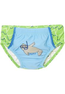 Playshoes - reusable swim diaper girls and boys - blue/green - Front