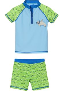 Playshoes - UV swim set for boys and girls - seal - blue/green - Front