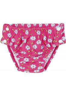 Playshoes - UV swim nappy for girls - Reusable - Flowers - Pink - Front