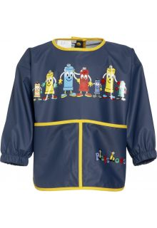 Playshoes - Apron with long sleeves - Navy - Front
