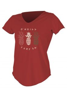 O'Neill---Women's-UV-shirt---Short-Sleeves---Graphic-Sun---Taos-Red